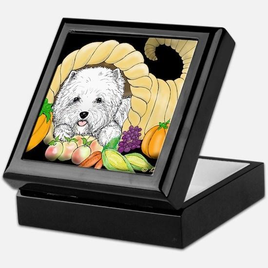 Thanksgiving Westie Keepsake Box