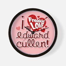I Freakin LOVE Edward Cullen Wall Clock