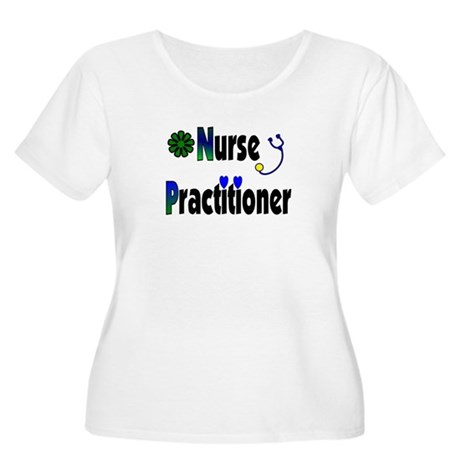 nurse practitioner Women's Plus Size Scoop Neck T-