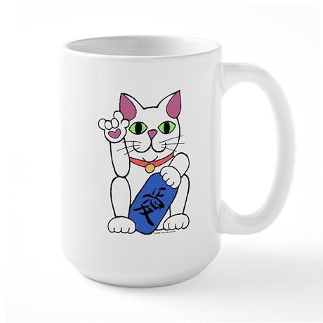 ILY Neko Cat Large Mug