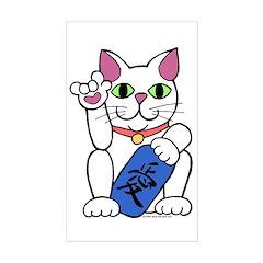 ILY Neko Cat Rectangle Decal