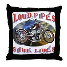Cute Motorcycle harley Throw Pillow