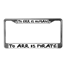 Arr! - License Plate Frame
