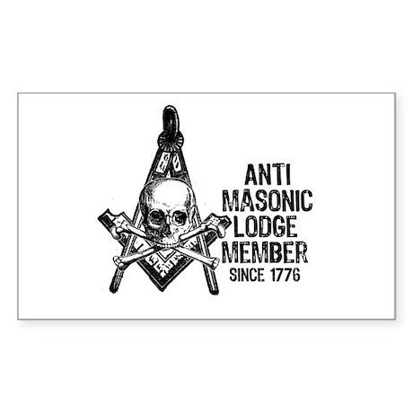 Anti-Masonic Rectangle Sticker