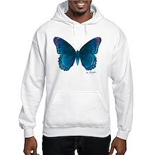 Big blue butterfly Hoodie