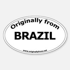 Brazil Oval Decal
