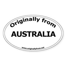 Australia Oval Decal