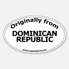 Dominican Republic Oval Decal