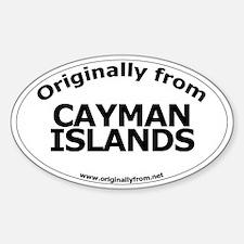 Cayman Islands Oval Decal