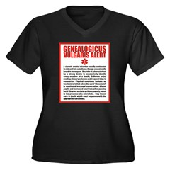 Genealogicus Vulgaris Women's Plus Size V-Neck Dar