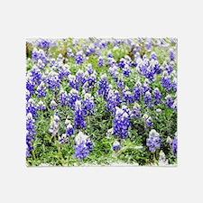 Cute Texas bluebonnets Throw Blanket
