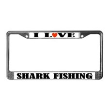 Shark Fishing License Plate Frame