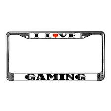 I Love Gaming License Plate Frame