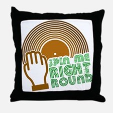 Spin Me Right Round Throw Pillow