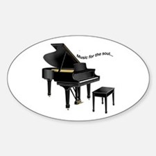 Music for the Soul Oval Decal