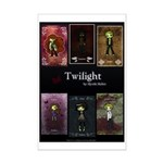 Twilight Red Mini Poster Print