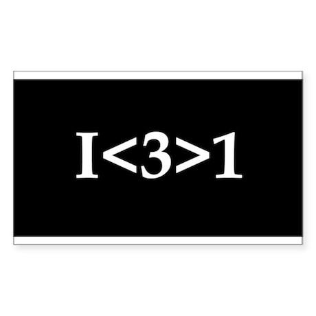I<3>1 Rectangle Sticker 50 pk)