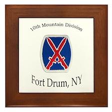 10TH MOUNTIAN DIV Framed Tile