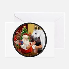 Santa/Horse (Ar-W) Greeting Card