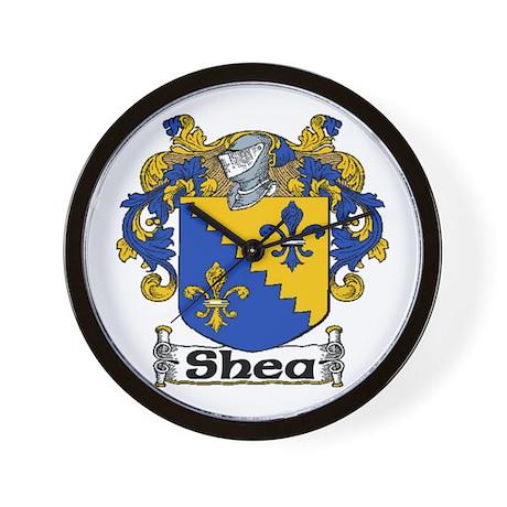 Shea Coat of Arms Wall Clock