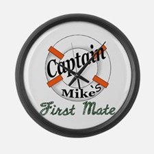 Captain Mike Large Wall Clock