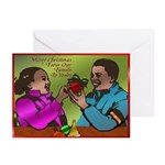 African American Christmas Greeting Cards (Pk of 1