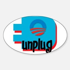 Unplug Obama Logo Oval Decal