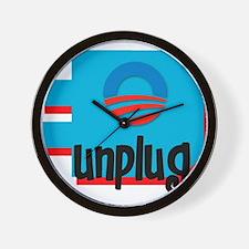 Unplug Obama Logo Wall Clock