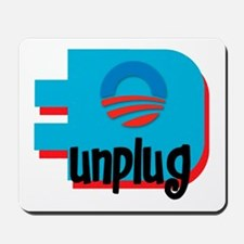 Unplug Obama Logo Mousepad