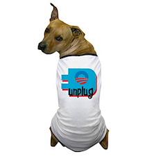 Unplug Obama Logo Dog T-Shirt