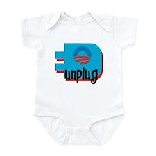 Unplug Obama Logo Infant Bodysuit