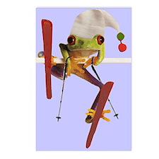 Cute Ski christmas Postcards (Package of 8)