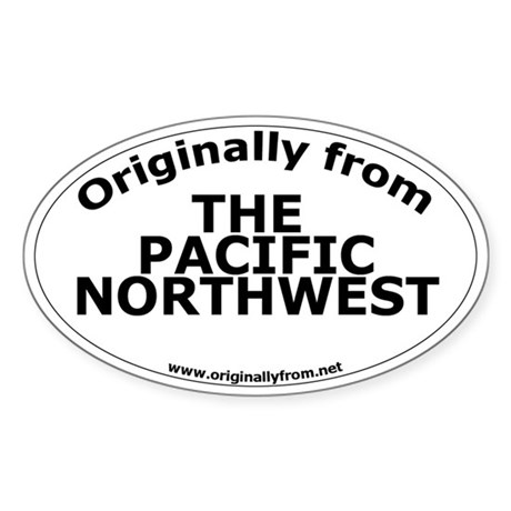 The Pacific Northwest Oval Sticker