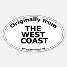 The West Coast Oval Decal