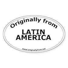 Latin America Oval Decal