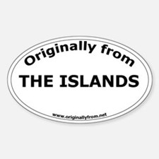 The Islands Oval Decal
