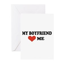 My boyfriend loves me Greeting Cards (Pk of 20)