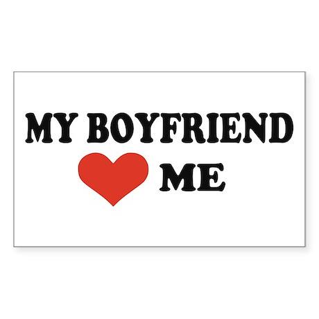 My boyfriend loves me Rectangle Sticker 50 pk)