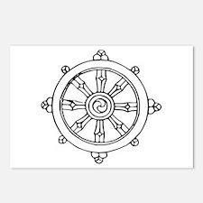 Dharma Wheel Postcards (Package of 8)