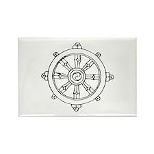 Dharma Wheel Rectangle Magnet (100 pack)
