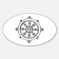 Dharma Wheel Oval Decal