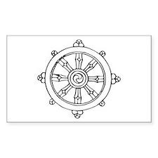 Dharma Wheel Rectangle Decal
