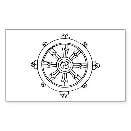 Dharma Wheel Rectangle Sticker