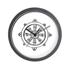 Dharma Wheel Wall Clock