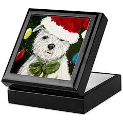 Santa Westie Keepsake Box