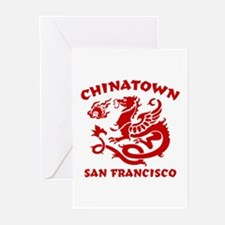 Chinatown San Francisco Greeting Cards (Package of