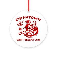 Chinatown San Francisco Ornament (Round)