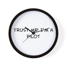 Trust Me: Pilot Wall Clock