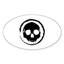 Tribal Skull Oval Decal