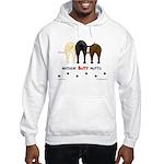 Dog Mutts (Mixed Breeds) Hooded Sweatshirt